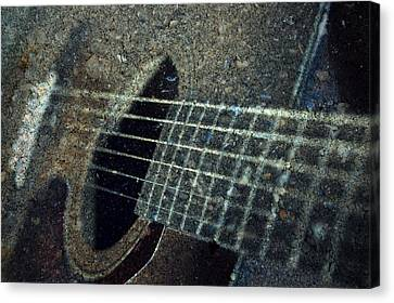 Rock Guitar Canvas Print