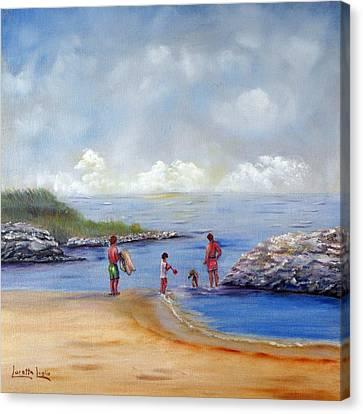 Rock Hall Beach Canvas Print