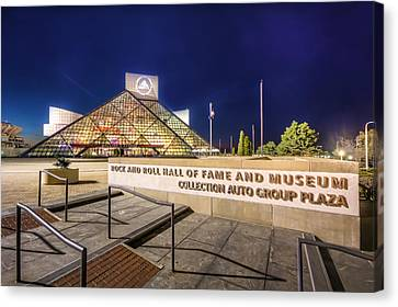 Canvas Print featuring the photograph Rock Hall Plaza by Brent Durken