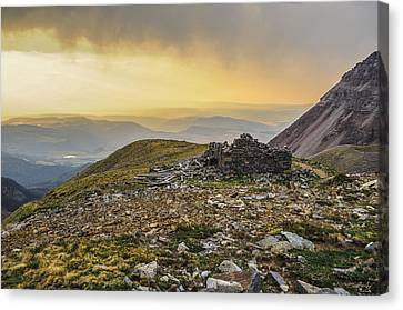 Rock House Ruins Canvas Print by Aaron Spong