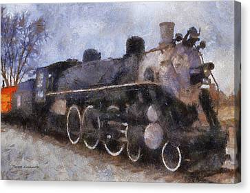 Rock Island Locomotive Engine Photo Art Canvas Print by Thomas Woolworth