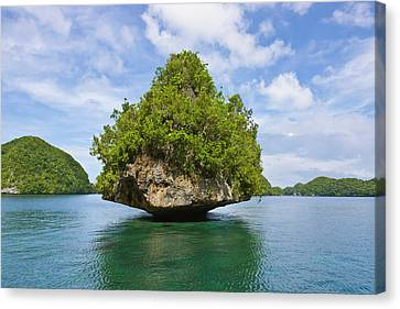 Rock Islands, Palau, Micronesia Canvas Print by Keren Su