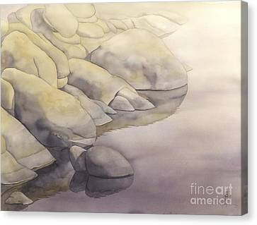 Prescott Canvas Print - Rock Meets Water by Robert Hooper