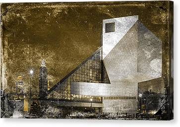 Rock 'n Roll Hall Of Fame Canvas Print by Sandra Rozhon