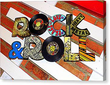 Rock N Roll Is Here To Stay Canvas Print by Kathy  White