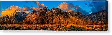 Canvas Print featuring the photograph Rock Of Ages Panorama by Greg Norrell