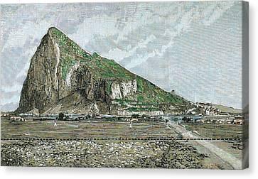 Rock Of Gibraltar Canvas Print by Prisma Archivo