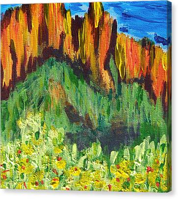 Rock Of Many Colors Canvas Print by Marcia Weller-Wenbert