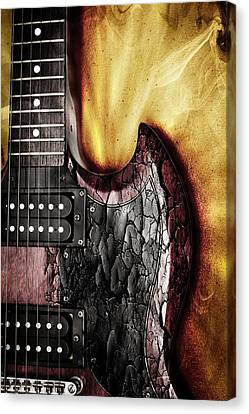 Canvas Print featuring the photograph Rock On Gibson  by Aaron Berg