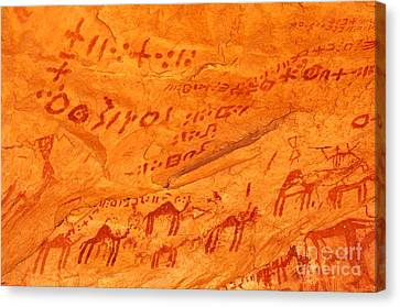 Rock Paintings Canvas Print by Dr. G�nther Fischer