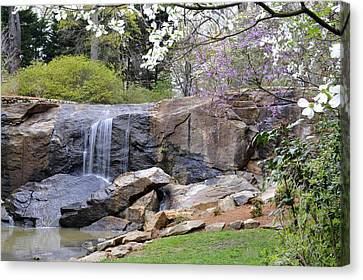 Rock Quarry Falls In Greenville Sc Cleveland Park Canvas Print