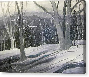 Rock Ridge Snowscene Canvas Print