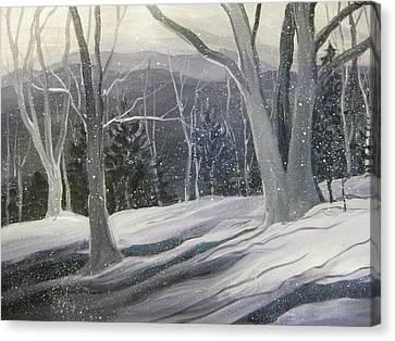 Rock Ridge Snowscene Canvas Print by Gretchen Allen