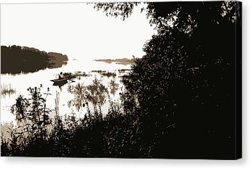 Rock River, View Near Dixon, Dixon, Ill, Rivers, Rowboats Canvas Print