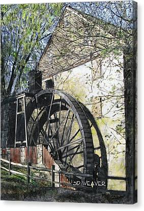 Rock Run Mill Canvas Print by Sid Weaver