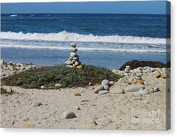 Rock Sculpture 2 Canvas Print by Bev Conover