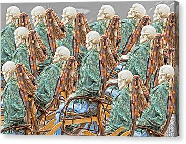 Beach Chair Canvas Print - Rock The Bones by Betsy Knapp