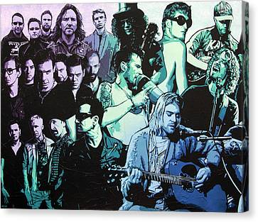 Rock Triptych - Panel A Canvas Print by Bobby Zeik