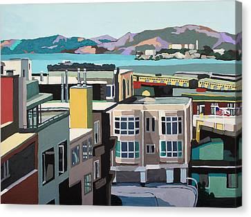 Alcatraz Canvas Print - Rock Watch by Melinda Patrick