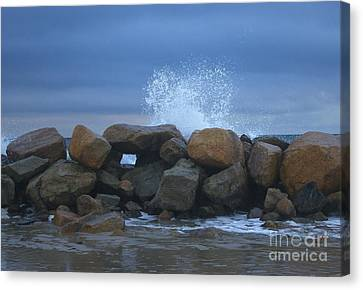 Rock Window Canvas Print by Amazing Jules
