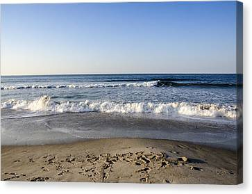 Rockaway Beach Morning Shoreline Canvas Print