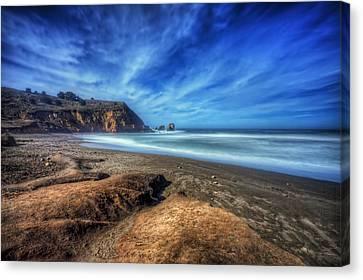 Rockaway Beach Pacifica California 1  Canvas Print by Jennifer Rondinelli Reilly - Fine Art Photography