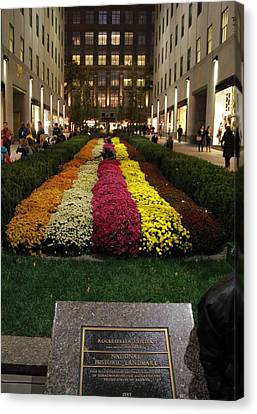 Rockefeller Center In Autumn Canvas Print by Dan Sproul