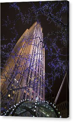 Rockefeller Center Night Lights Canvas Print