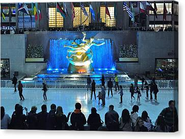 Rockefeller Center Skating Rink Canvas Print