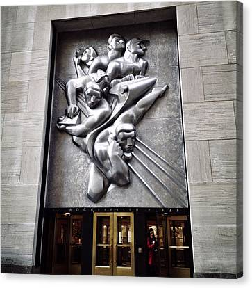 Rockefeller News Canvas Print by Natasha Marco