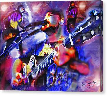 Canvas Print featuring the painting Rocker by Ted Azriel