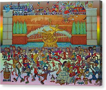 Rockerfeller Center Stage Canvas Print by Paul Calabrese