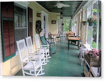 Rockers On The Porch Canvas Print