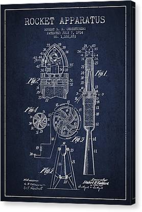 Rocket Apparatus Patent From 1914 Canvas Print