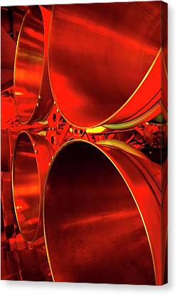 Rocket Engine Nozzles. Canvas Print by Mark Williamson