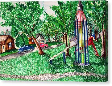 Rocket Slide Canvas Print by Jame Hayes