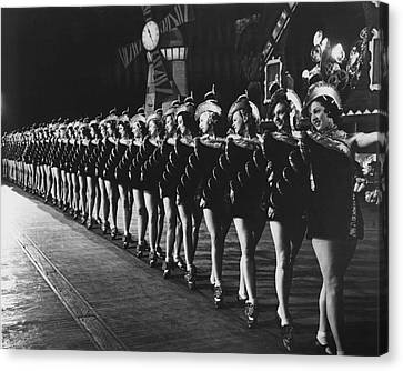 Rockettes Brighten Up Manhattan Streets Canvas Print by Retro Images Archive