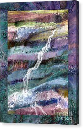 Fed Canvas Print - Rockface by Ursula Freer