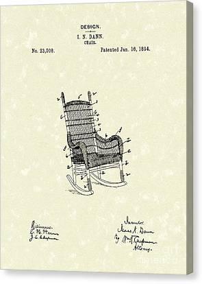 Rocking Chair 1894 Patent Art Canvas Print