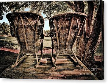 Rocking Chairs Canvas Print