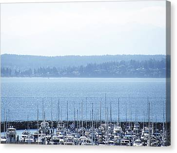 Rocking In The Puget Sound Canvas Print by Laura Watts