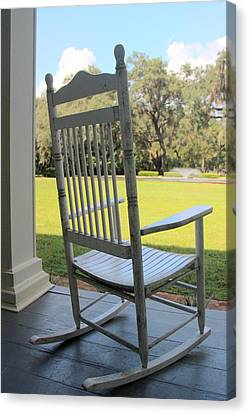Rocking On The Front Porch Canvas Print by William Tucker