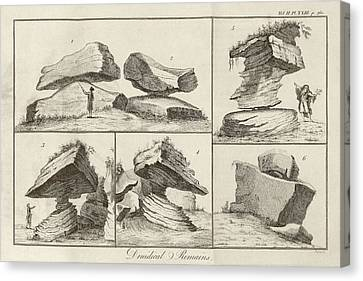 Rocking Stone Canvas Print by Middle Temple Library