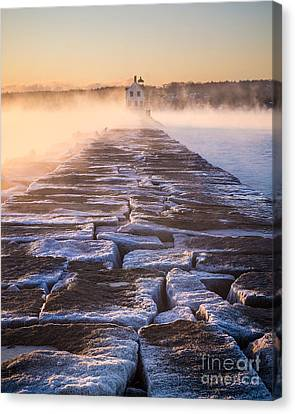 Rockland Breakwater Lighthouse Canvas Print by Benjamin Williamson