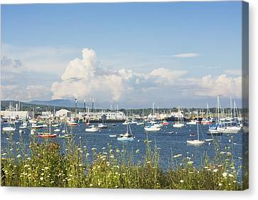 Rockland Harbor On The Coast Of Maine Canvas Print by Keith Webber Jr