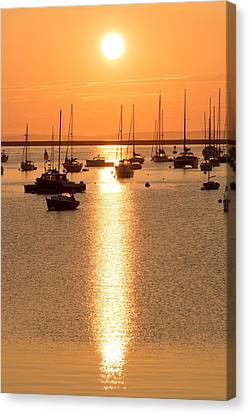 Rockland Harbor Sunrise Canvas Print