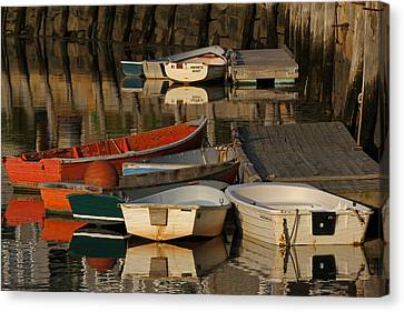 Rockport Dinghies Canvas Print by Juergen Roth
