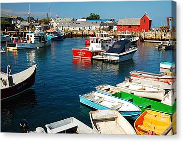 Rockport Harbor Canvas Print by James Kirkikis