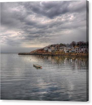 Row Boat Canvas Print - Rockport Harbor by Joann Vitali