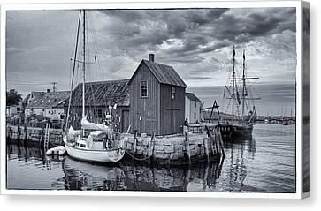 New England Village Canvas Print - Rockport Harbor Lobster Shack by Stephen Stookey